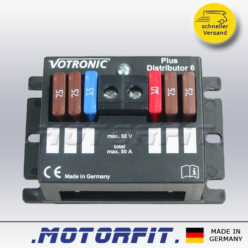 votronic plus distributor 6 12v votronic ladetechnik. Black Bedroom Furniture Sets. Home Design Ideas